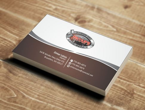 Zintar's Collision and Auto Repair Business Cards and Stationery  Draft # 58 by Deck86