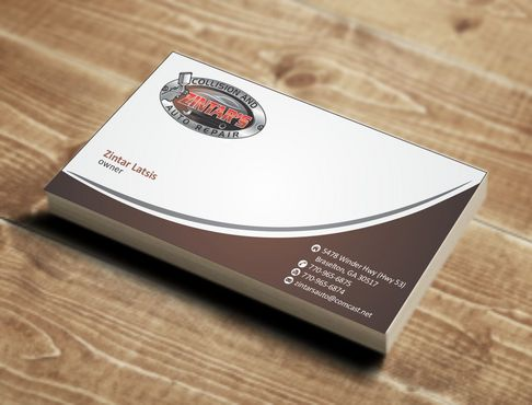 Zintar's Collision and Auto Repair Business Cards and Stationery  Draft # 57 by Deck86