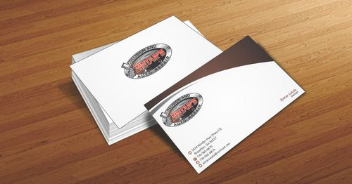 Zintar's Collision and Auto Repair Business Cards and Stationery  Draft # 62 by Deck86