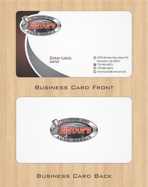 Zintar's Collision and Auto Repair Business Cards and Stationery  Draft # 65 by Deck86