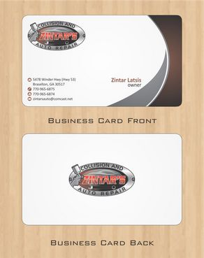 Zintar's Collision and Auto Repair Business Cards and Stationery  Draft # 66 by Deck86