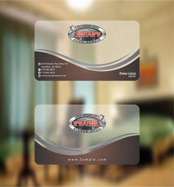Zintar's Collision and Auto Repair Business Cards and Stationery  Draft # 90 by Deck86
