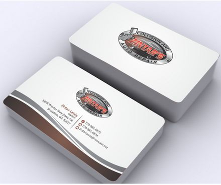 Zintar's Collision and Auto Repair Business Cards and Stationery  Draft # 81 by Deck86
