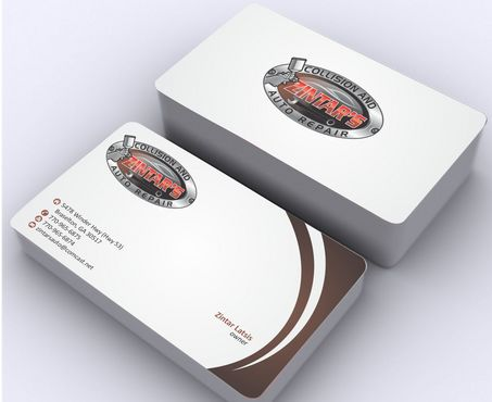 Zintar's Collision and Auto Repair Business Cards and Stationery  Draft # 84 by Deck86