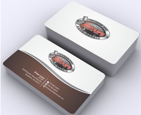 Zintar's Collision and Auto Repair Business Cards and Stationery  Draft # 88 by Deck86