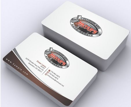 Zintar's Collision and Auto Repair Business Cards and Stationery  Draft # 87 by Deck86