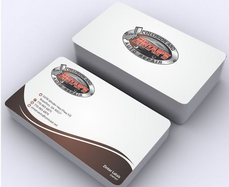 Zintar's Collision and Auto Repair Business Cards and Stationery  Draft # 92 by Deck86
