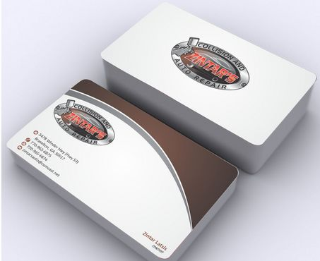 Zintar's Collision and Auto Repair Business Cards and Stationery  Draft # 89 by Deck86