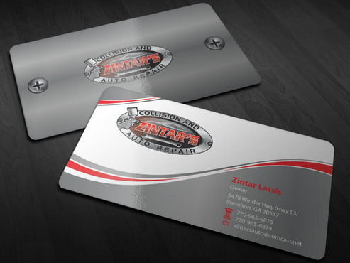 Zintar's Collision and Auto Repair Business Cards and Stationery  Draft # 131 by Xpert