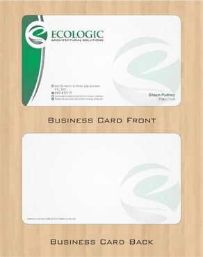 Ecologic Architectural Solutions Business Cards and Stationery  Draft # 96 by Deck86