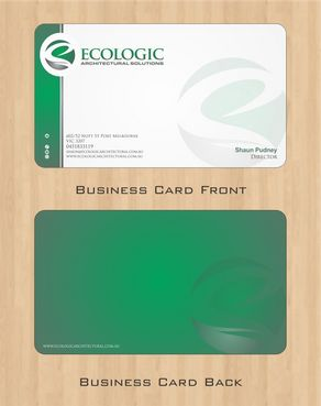 Ecologic Architectural Solutions Business Cards and Stationery  Draft # 94 by Deck86