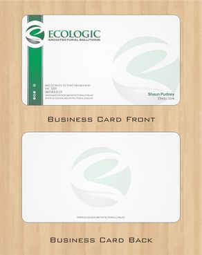 Ecologic Architectural Solutions Business Cards and Stationery  Draft # 103 by Deck86