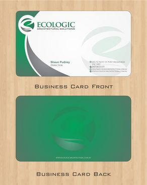 Ecologic Architectural Solutions Business Cards and Stationery  Draft # 98 by Deck86