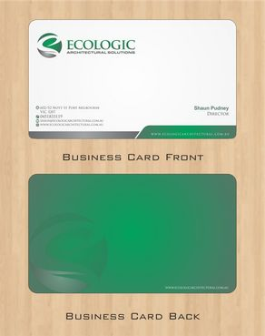 Ecologic Architectural Solutions Business Cards and Stationery  Draft # 109 by Deck86