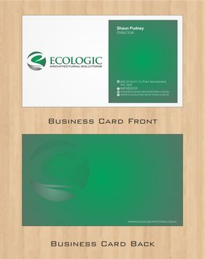 Ecologic Architectural Solutions Business Cards and Stationery  Draft # 101 by Deck86