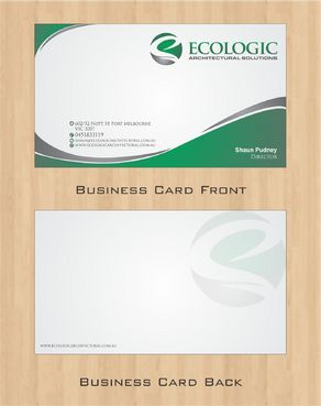 Ecologic Architectural Solutions Business Cards and Stationery  Draft # 107 by Deck86