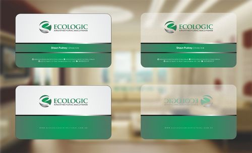 Ecologic Architectural Solutions Business Cards and Stationery  Draft # 106 by Deck86