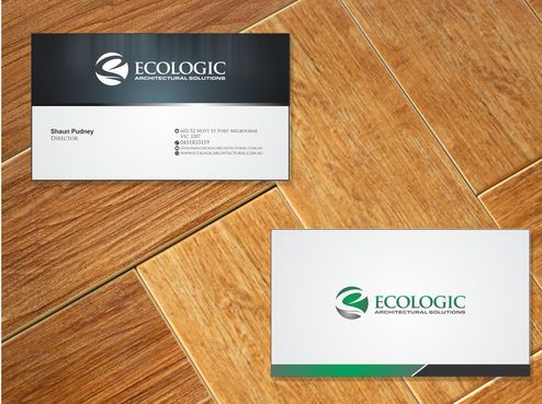 Ecologic Architectural Solutions Business Cards and Stationery  Draft # 110 by Deck86