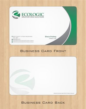 Ecologic Architectural Solutions Business Cards and Stationery  Draft # 113 by Deck86