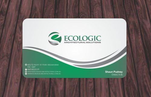 Ecologic Architectural Solutions Business Cards and Stationery  Draft # 89 by Deck86