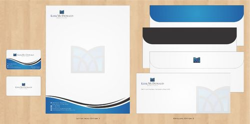 Stationary, Letterhead, Business Cards & Envelopes Business Cards and Stationery  Draft # 247 by Deck86
