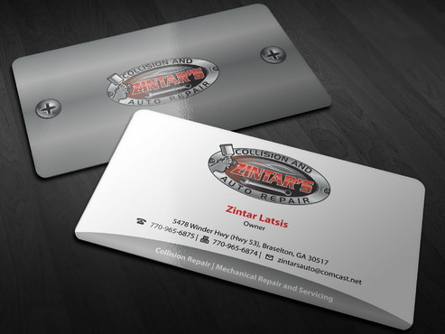 Zintar's Collision and Auto Repair Business Cards and Stationery  Draft # 148 by Xpert