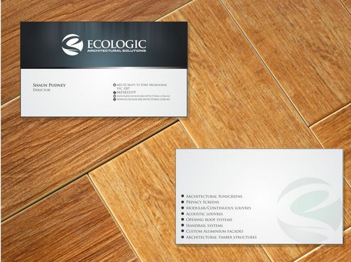 Ecologic Architectural Solutions Business Cards and Stationery  Draft # 126 by Deck86