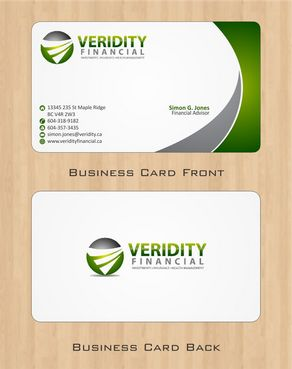 Veridity Financial Business Cards and Stationery  Draft # 75 by Deck86