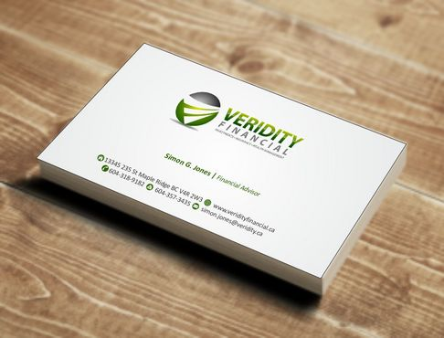 Veridity Financial Business Cards and Stationery  Draft # 80 by Deck86