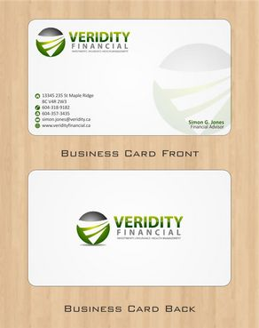 Veridity Financial Business Cards and Stationery  Draft # 108 by Deck86