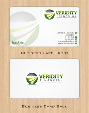 Veridity Financial Business Cards and Stationery  Draft # 82 by Deck86