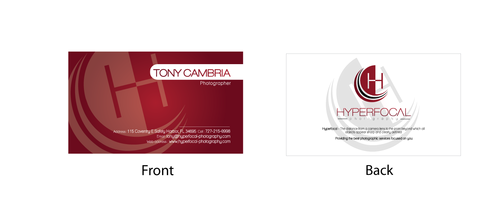 Hyperfocal Photography Business Cards and Stationery  Draft # 100 by MagmaSolution
