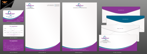 Business card, letter head and envelope design