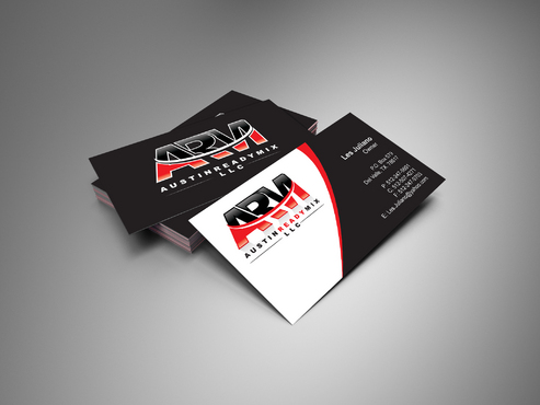 Austin Ready Mix, LLC Business Cards and Stationery  Draft # 3 by i3designer