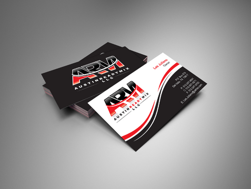 Austin Ready Mix, LLC Business Cards and Stationery  Draft # 4 by i3designer
