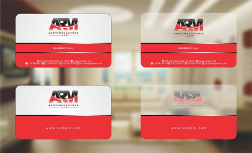 Austin Ready Mix, LLC Business Cards and Stationery  Draft # 88 by Deck86