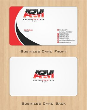 Austin Ready Mix, LLC Business Cards and Stationery  Draft # 101 by Deck86