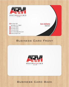 Austin Ready Mix, LLC Business Cards and Stationery  Draft # 103 by Deck86