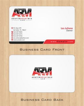 Austin Ready Mix, LLC Business Cards and Stationery  Draft # 104 by Deck86