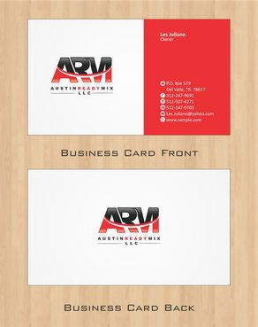 Austin Ready Mix, LLC Business Cards and Stationery  Draft # 105 by Deck86