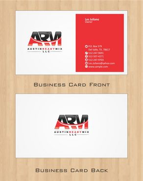 Austin Ready Mix, LLC Business Cards and Stationery  Draft # 106 by Deck86