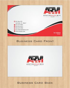 Austin Ready Mix, LLC Business Cards and Stationery  Draft # 107 by Deck86
