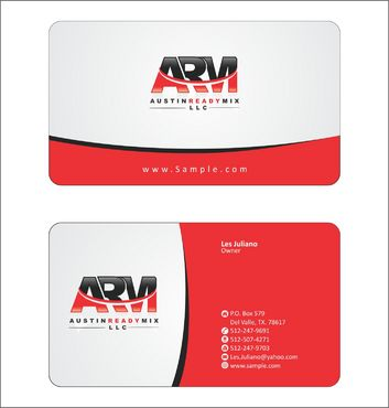 Austin Ready Mix, LLC Business Cards and Stationery  Draft # 109 by Deck86