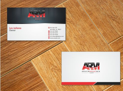 Austin Ready Mix, LLC Business Cards and Stationery  Draft # 108 by Deck86