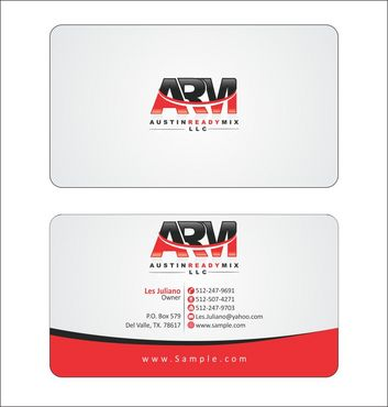 Austin Ready Mix, LLC Business Cards and Stationery  Draft # 110 by Deck86