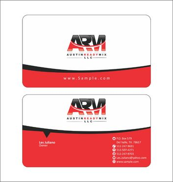 Austin Ready Mix, LLC Business Cards and Stationery  Draft # 111 by Deck86