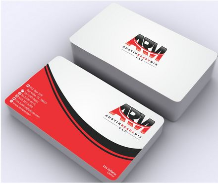 Austin Ready Mix, LLC Business Cards and Stationery  Draft # 112 by Deck86