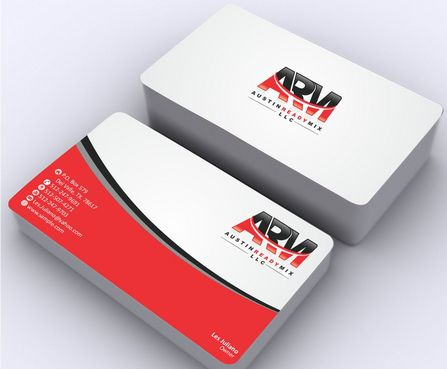 Austin Ready Mix, LLC Business Cards and Stationery  Draft # 115 by Deck86