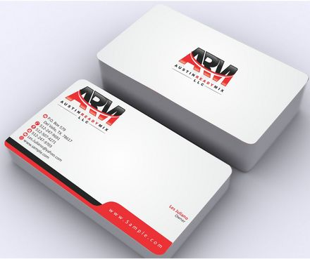 Austin Ready Mix, LLC Business Cards and Stationery  Draft # 114 by Deck86