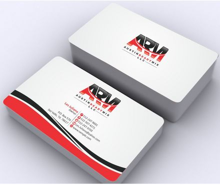 Austin Ready Mix, LLC Business Cards and Stationery  Draft # 116 by Deck86